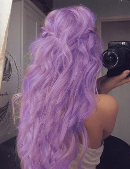 lilac shade of purple hair