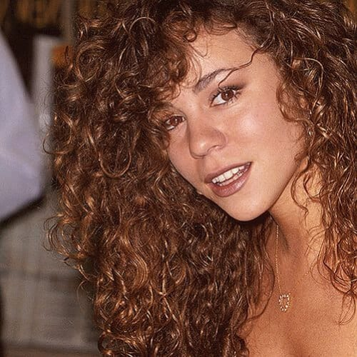 mariah carey hairstyles for curly hair