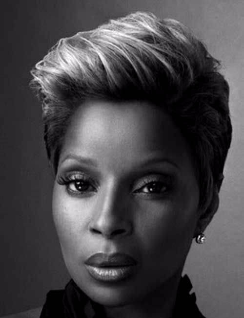 mary j blige short hairstyle for black women