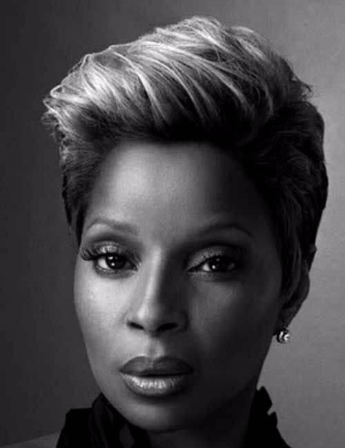 mary j blige short hairstyle for black women
