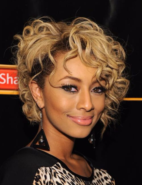 messy curly bob short hairstyles for black women