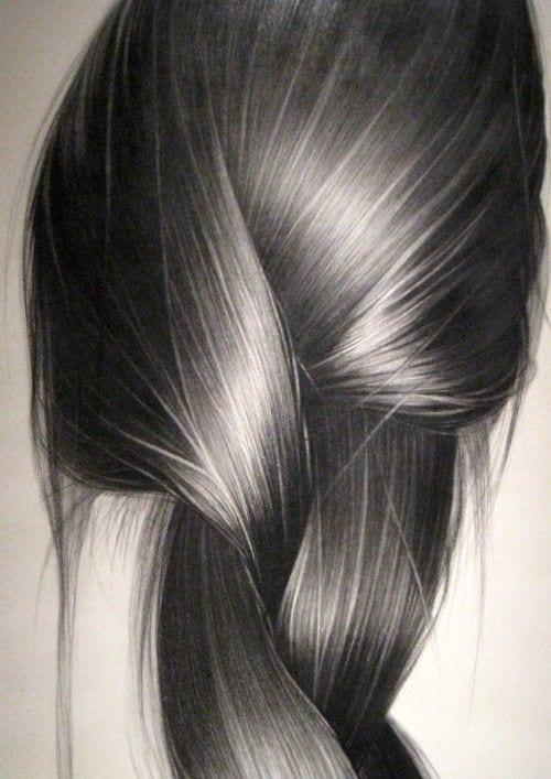 metallic charcoal grey hair