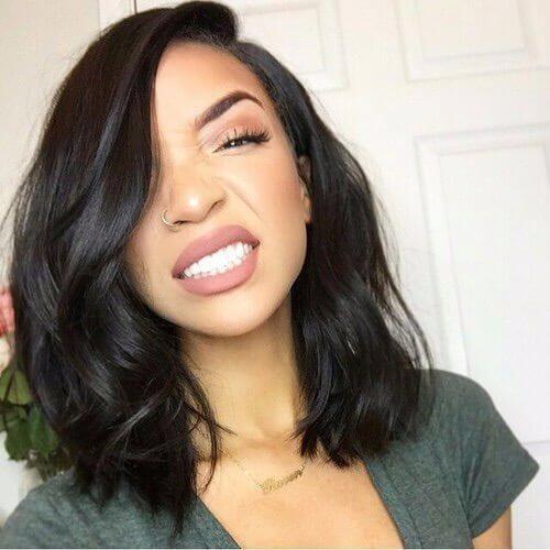 natural hairstyles for medium straight bob