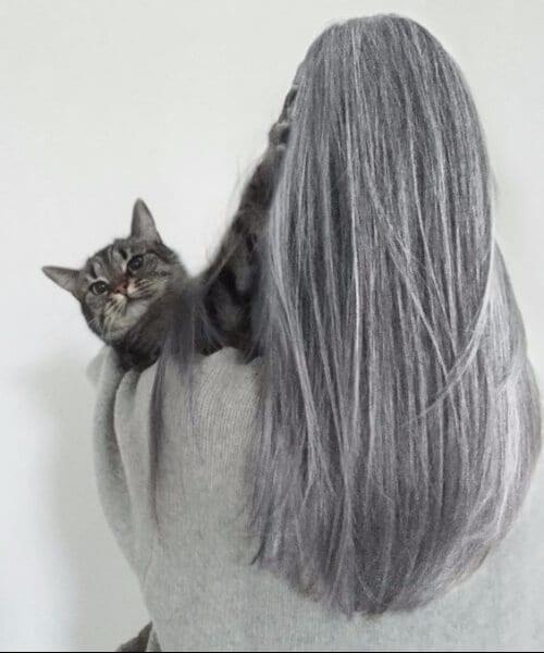 natural looking grey hair