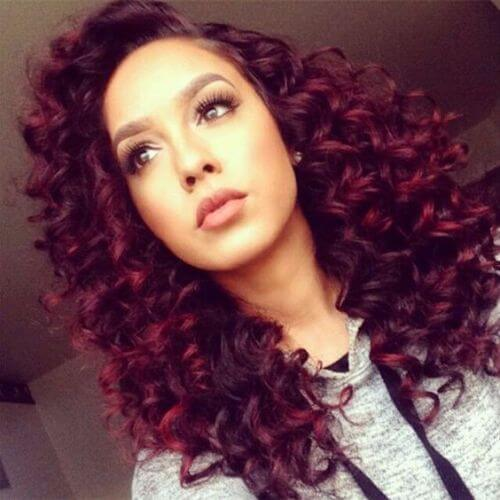 purple dyed natural hairstyles