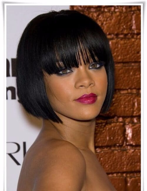 rihanna flapper chicago bob short hairstyles for black women