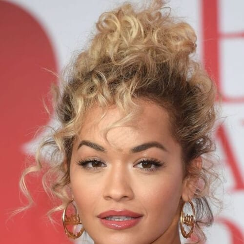 rita ora hairstyles for curly hair