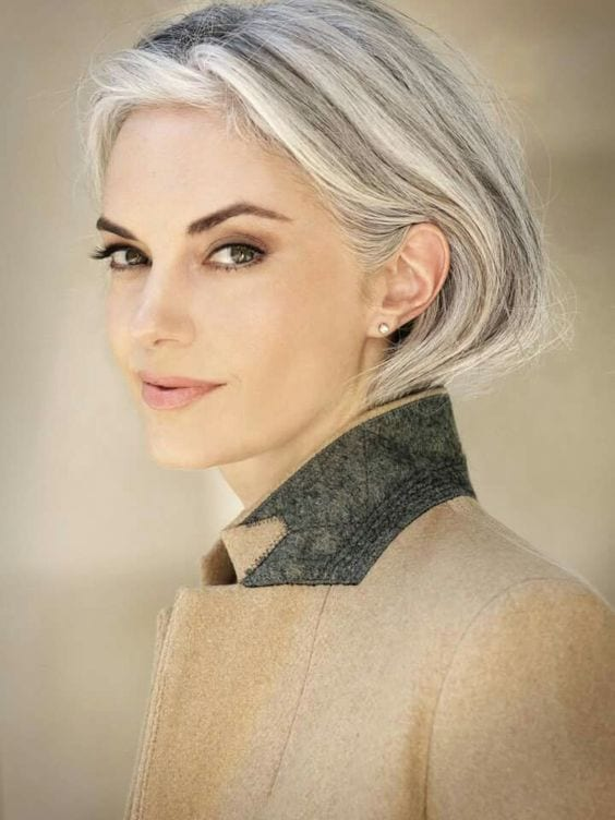 short bob grey hair