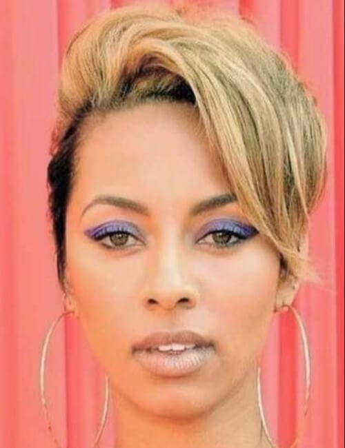 short hairstyles for black women blonde big bangs pixie