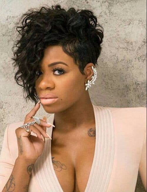 short hairstyles for black women curly pixie