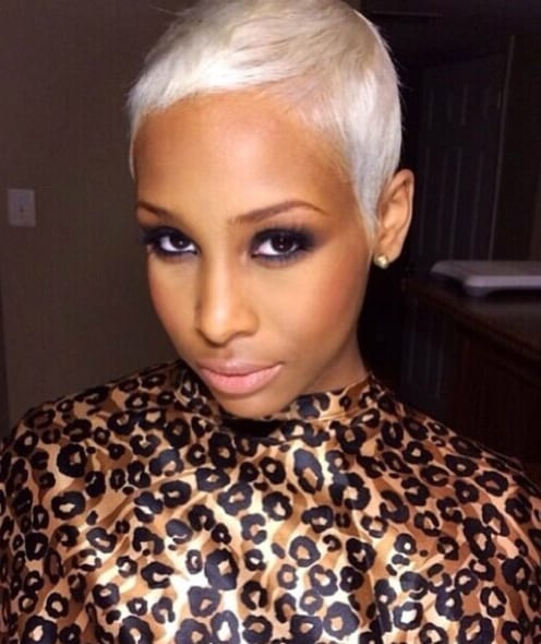 short hairstyles for black women platinum