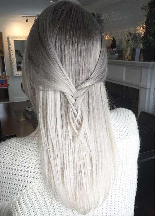tye dye grey hair and white