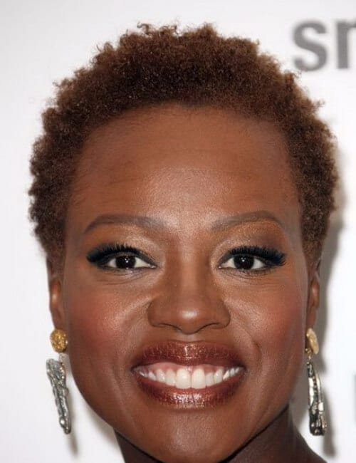 viola davis natural short hairstyles for black women