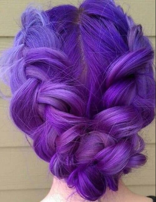 violet shades of purple hair