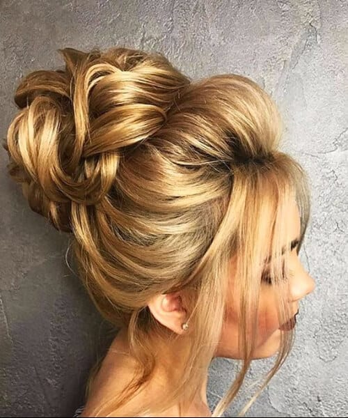 Gorgeous Wedding Bun homecoming hairstyles