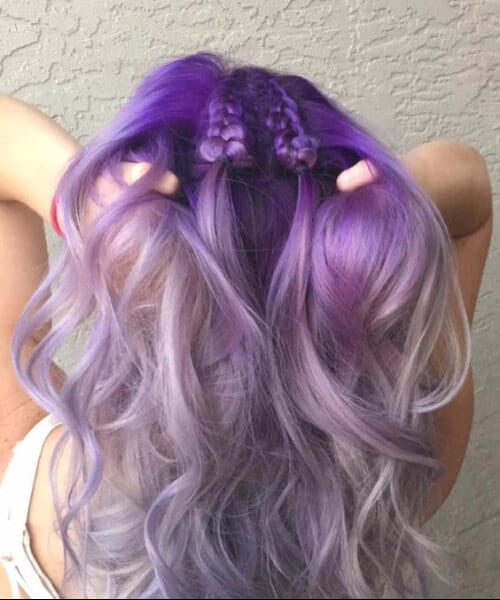 Lavender, and silver purple ombre hair