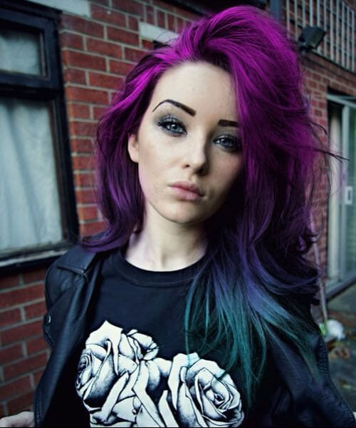Purple To Blue Ombre Hair purple ombre hair