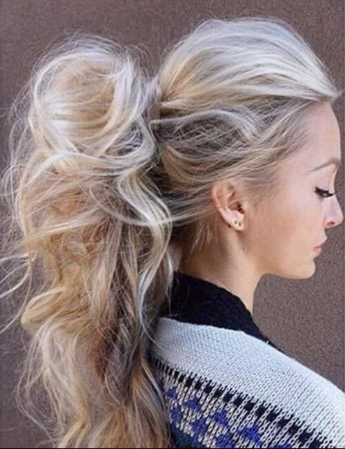 Super Long High ponytail updos for long hair