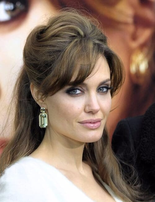 angelina jolie retro beehive updos for long hair