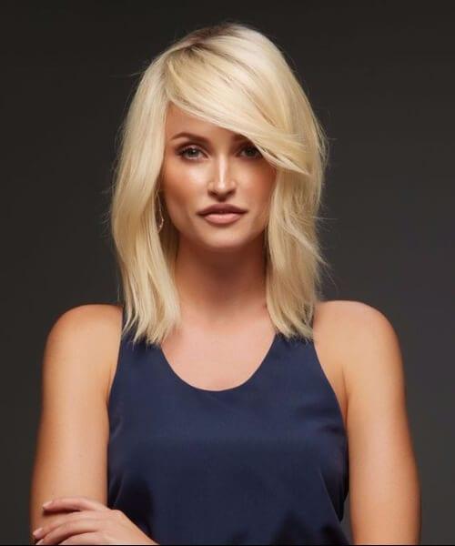 blonde shoulder length hairstyles