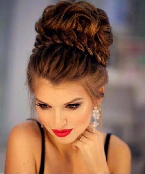 braid top bun homecoming hairstyles