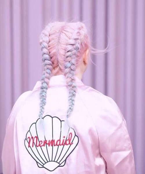 candy mermaid hair