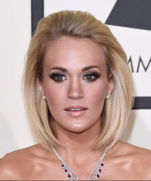 carrie underwood shoulder length hairstyles