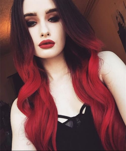 cherry red ombre hair