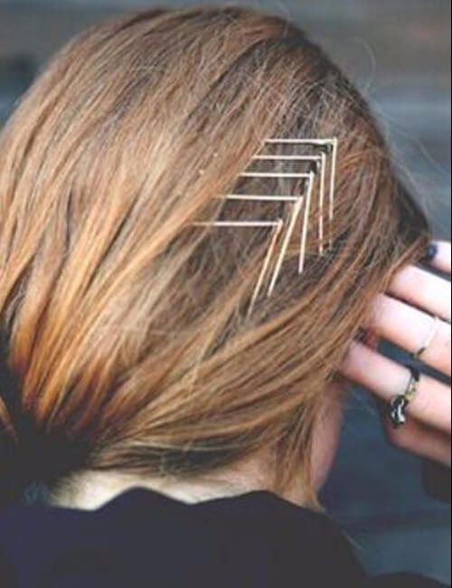 chevron hair pin updos for long hair