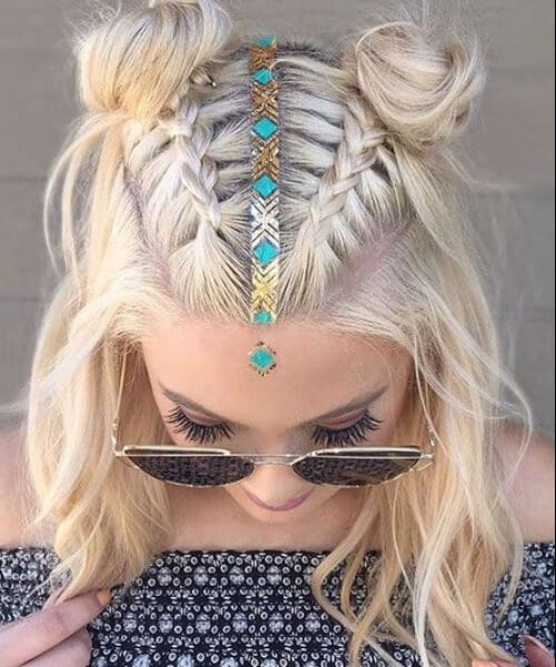 coachella inspired shoulder length hairstyles