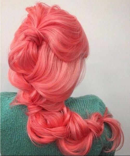 coral mermaid hair