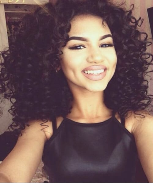 curly shoulder length hairstyles