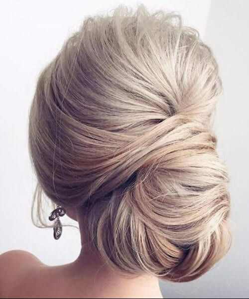 elegant low bun homecoming hairstyles