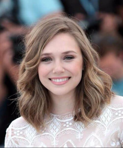 elizabeth olsen shoulder length hairstyles