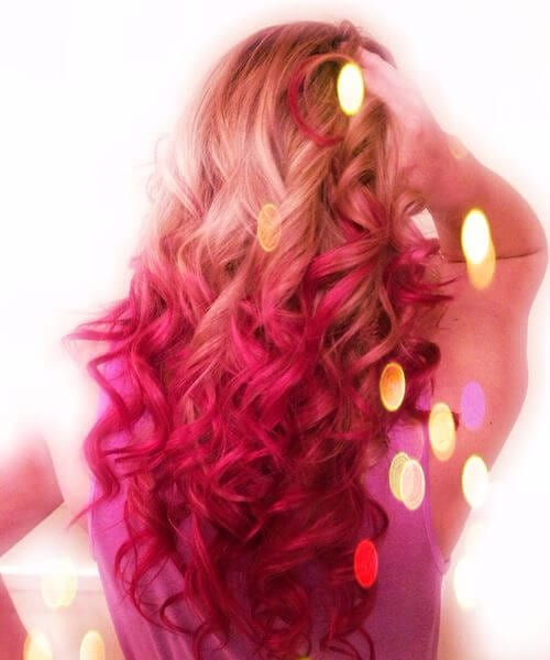 fairy red ombre hair