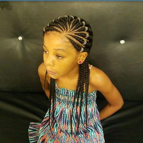 ghana braids children