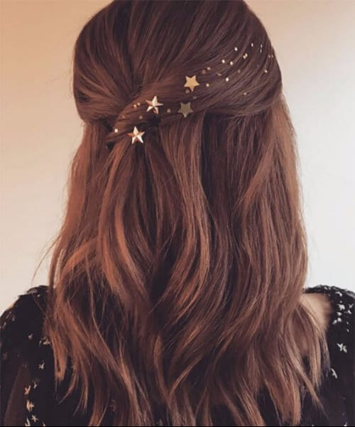 golden stars homecoming hairstyles