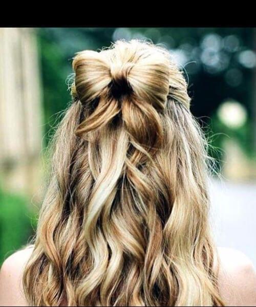 hair bow homecoming hairstyles