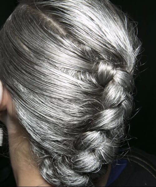hairstyles for women over 50 silver braid