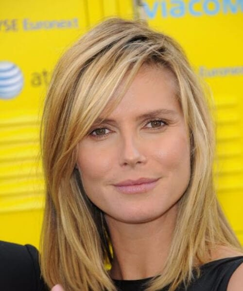 heidi klum shoulder length hairstyles