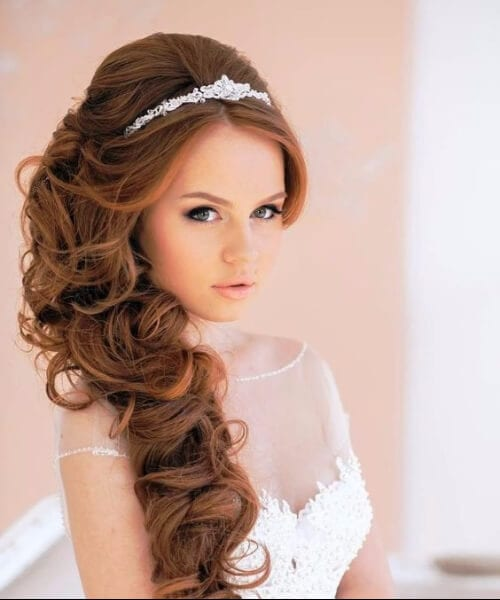 homecoming hairstyles with tiara