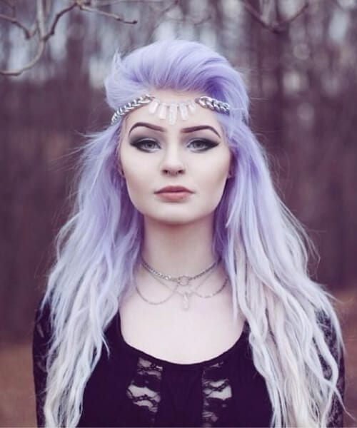 icy lavander purple ombre hair
