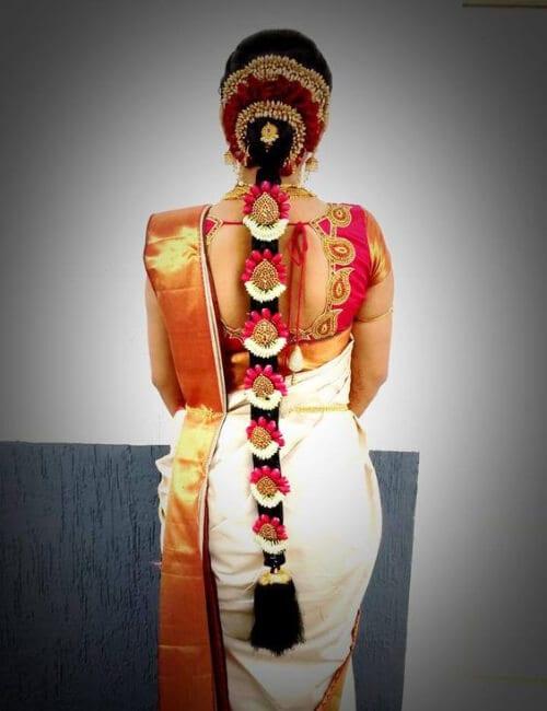 indian hairdos for long hair wedding