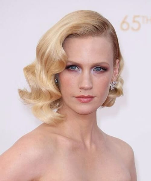 january jones shoulder length hairstyles