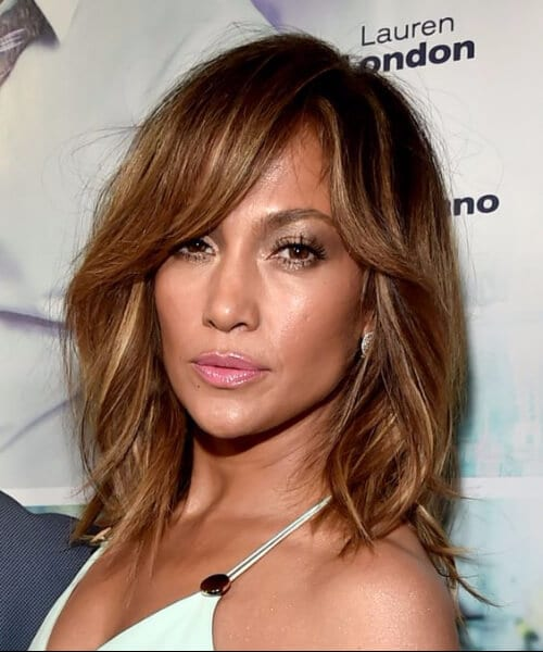 jennifer lopez shoulder length hairstyles layered bob