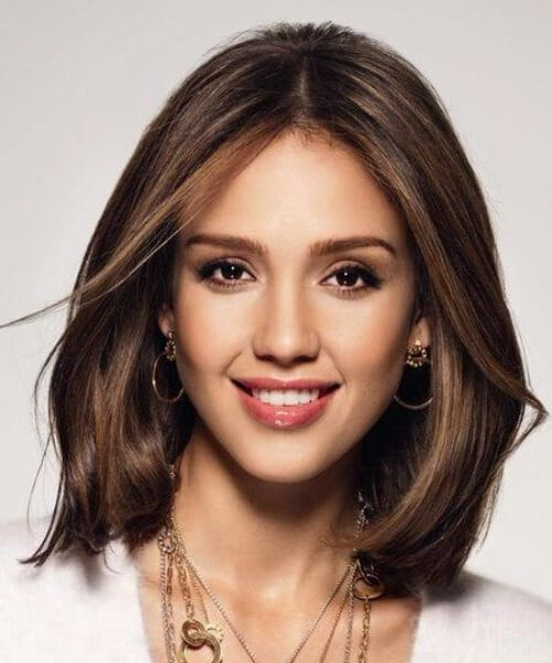 jessica alba shoulder length hairstyles