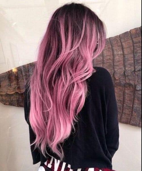 lavender purple ombre hair