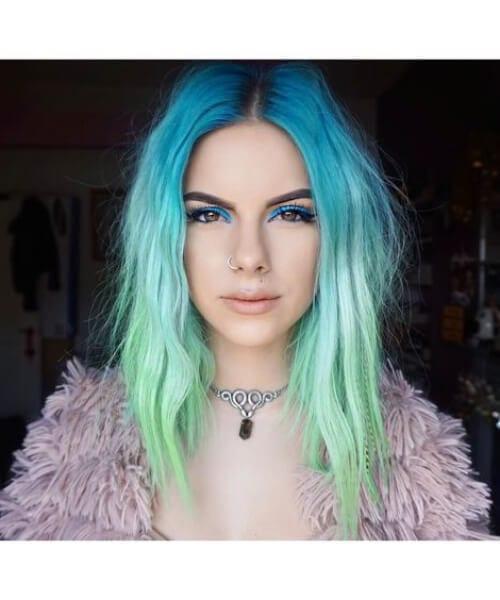 long bob mermaid hair