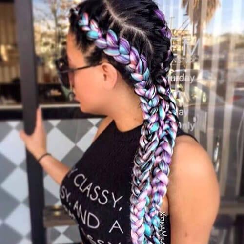 mermaid ghana braids