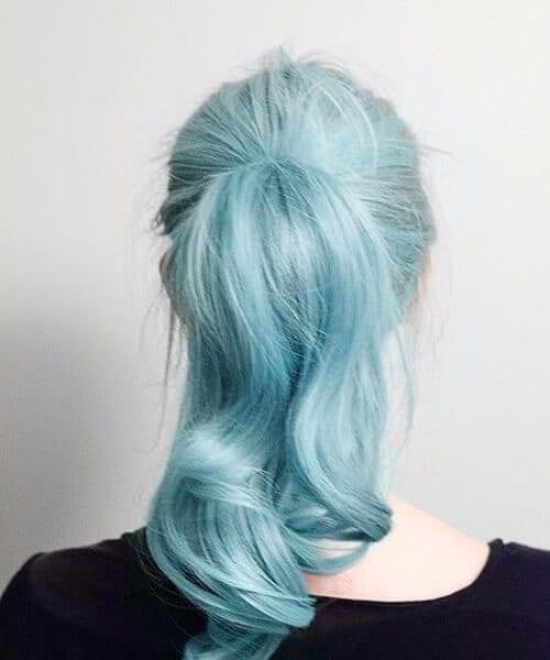 mermaid hair ponytail